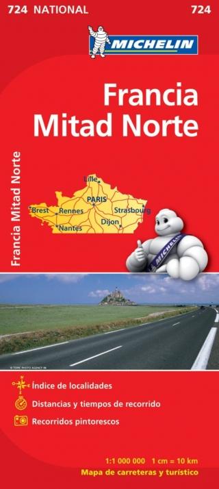 Francia-Mitad Norte (1:1.000.000)