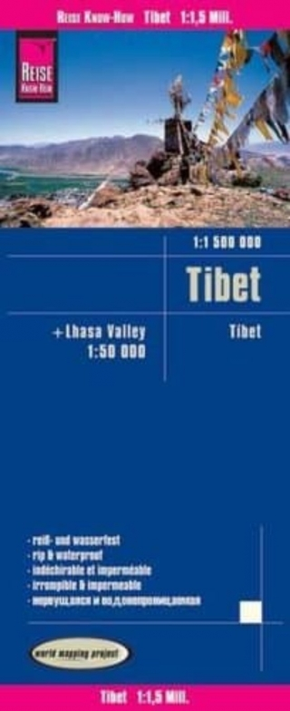 Tibet 1:1.500.000 + Lhasa valley 1:50.000