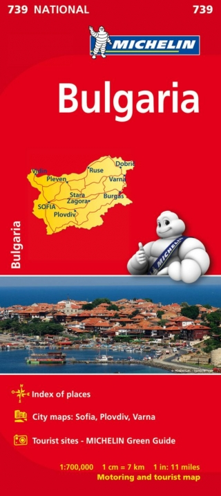 Bulgaria Michelin 739 (1:700.000)
