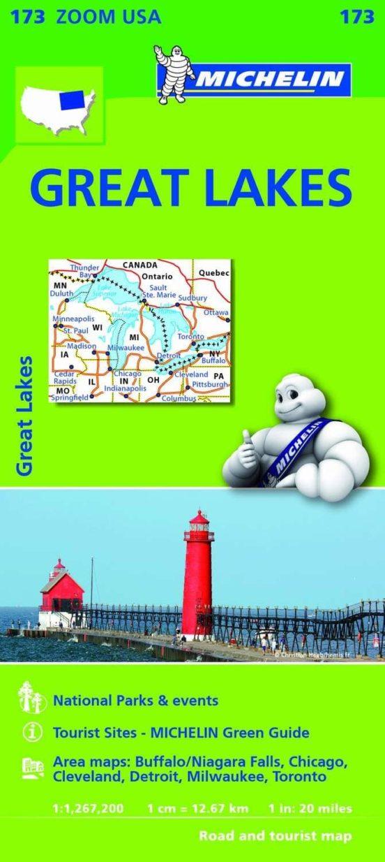 Mapa Zoom USA. Great Lakes. 1:1.267.200