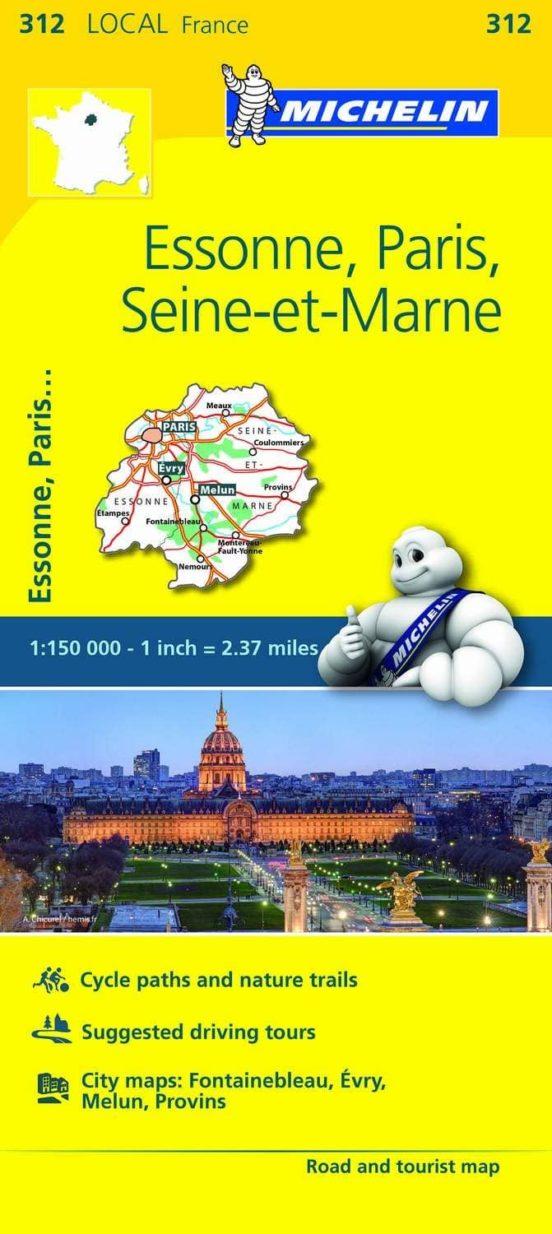 Essonne, Paris, Seine-et-Marne (1:150.000)