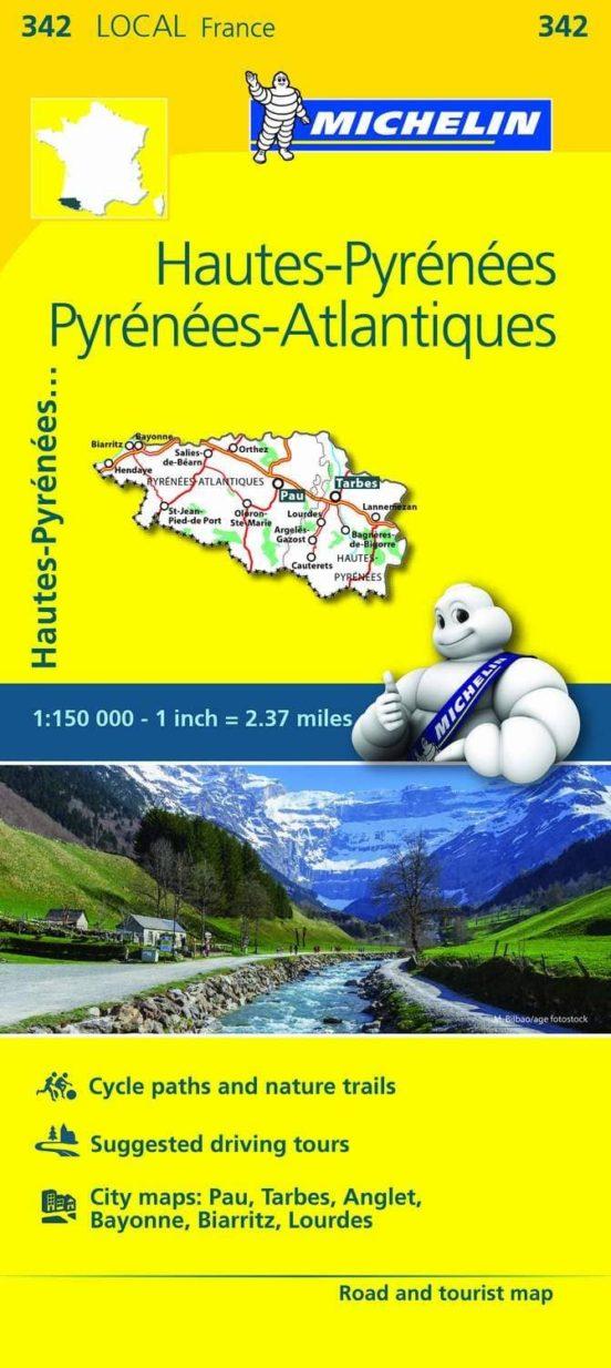 Hautes-Pyrénées, Pyrénées-Atlantiques (1:150.000)