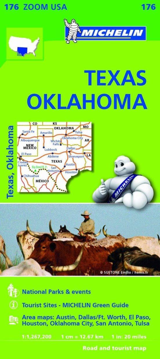 Mapa Zoom USA. Texas, Oklahoma 1:1.267.200