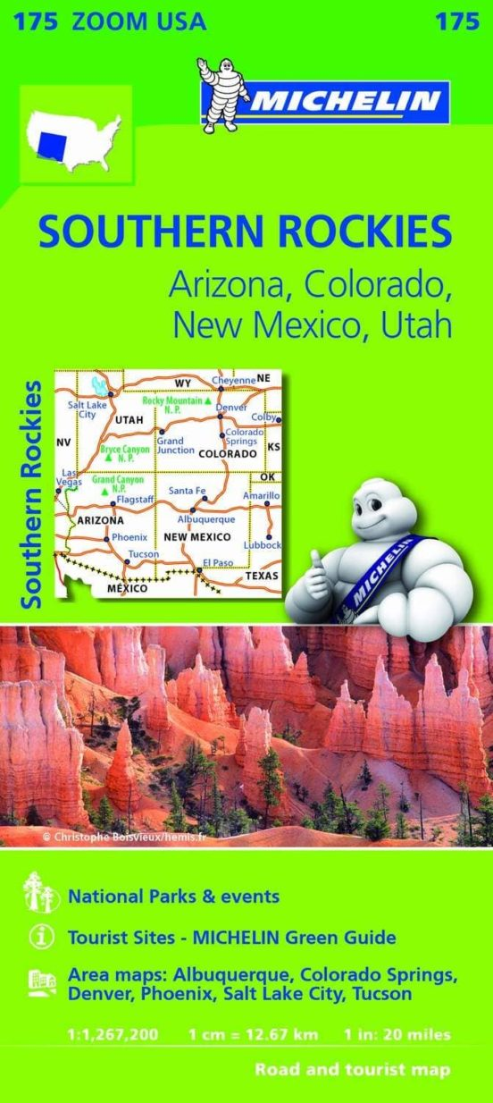 Mapa Zoom USA. Southern Rockies. Arizona, Colorado, Nuevo México, Utah. 1:1.267.200