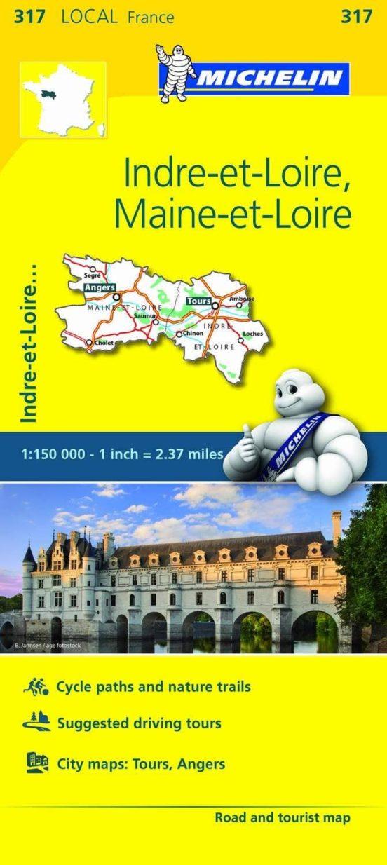 Indre-et-Loire, Maine-et-Loire (1:150.000)