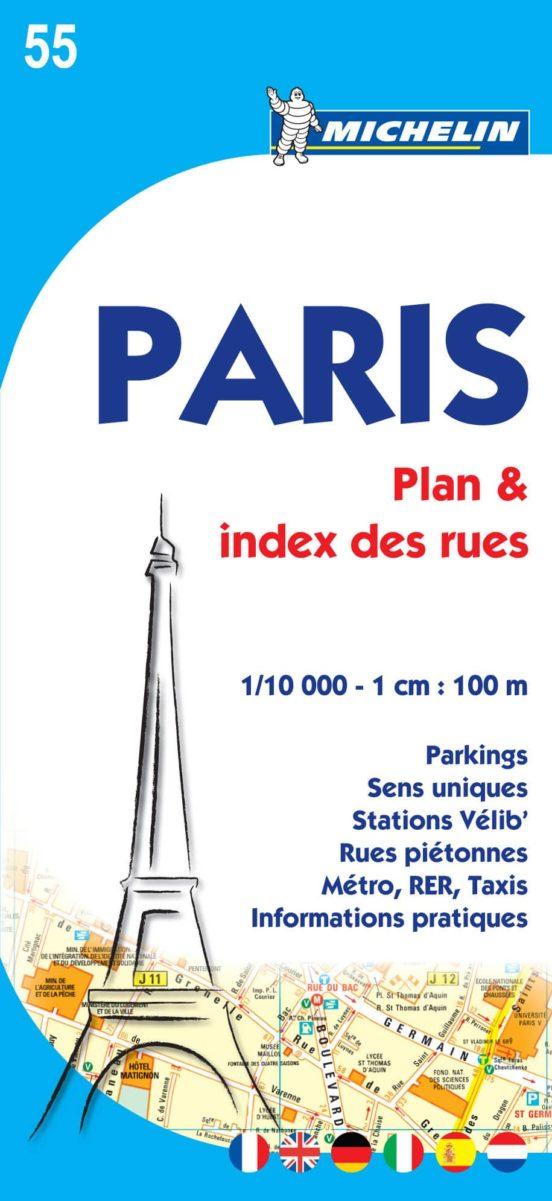 Paris 55 (1:10.000) Plan & index des rues