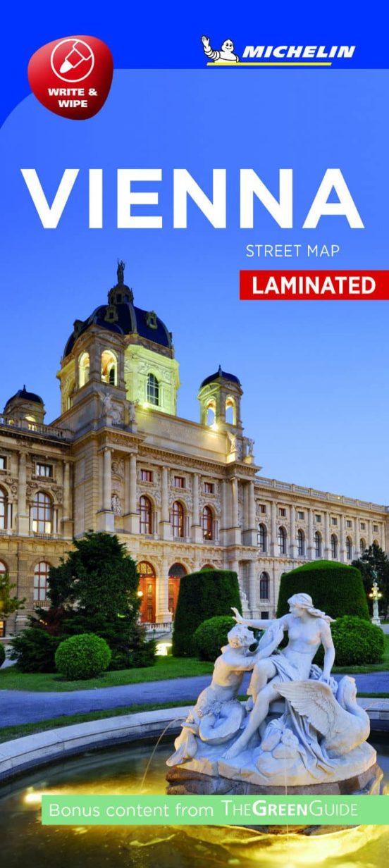 Vienna. Street Map Laminated