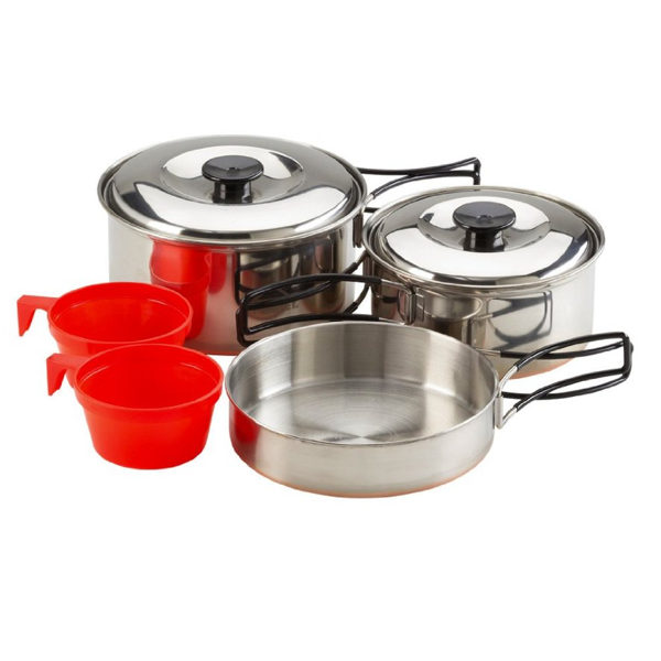 COOKING SET STAINLESS STEEL 2