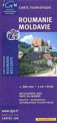 Roumanie et Moldavie 1:800.000