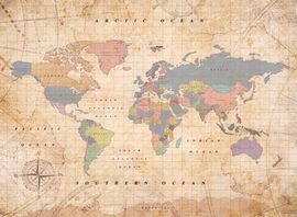 Mapa mural el mundo corcho L (60x45 cm) old school