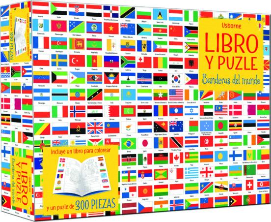 Libro y puzle Banderas del mundo