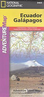 Ecuador Galápagos 3400 Adventure Map