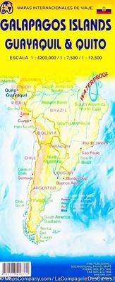 Galápagos Islands, Quito & Guayaquil (1:420.000)