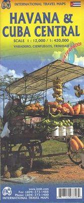 Havana & Cuba Central 1:12.000 / 1:420.000. Varadero, Cienfuegos, Trinidad