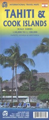 Tahiti & Cook Islands 1:50.000/1:100.000. Papeete, Avarua & Arutanga