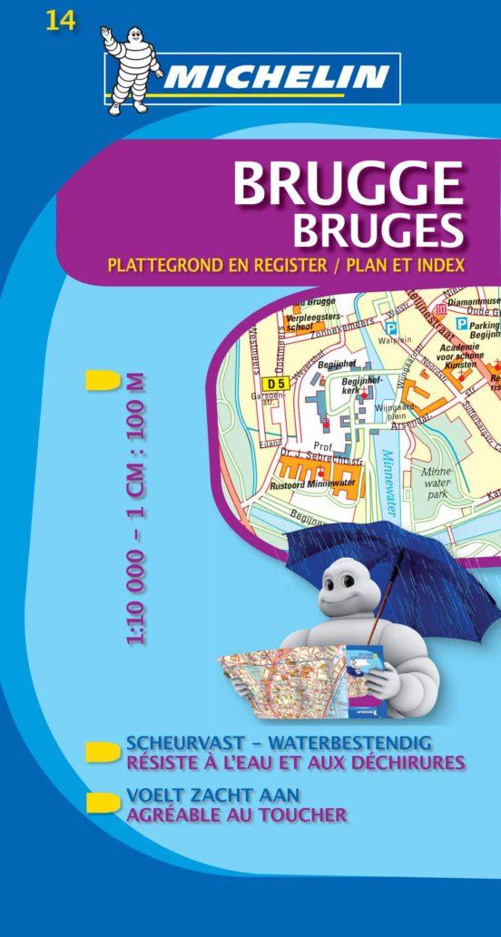 Bruges plan et index 14 (1:10.000)