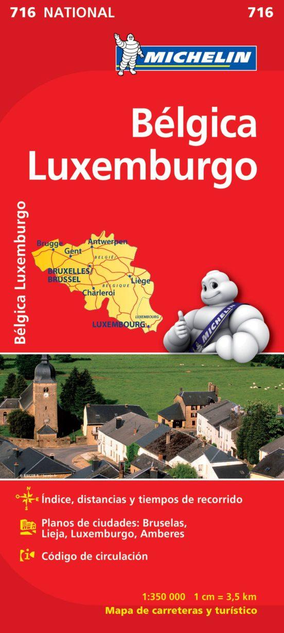 Bélgica, Luxemburgo 716 (1:350.000)