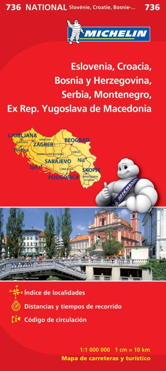 Slovenia, Croatia Bosnia & Herzegovina, Serbia, Montenegro... (1:1.000.000)