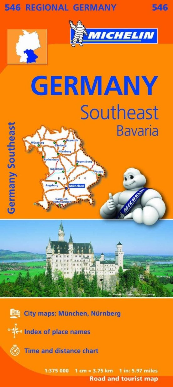 Germany Southeast Bavaria 1:375.000