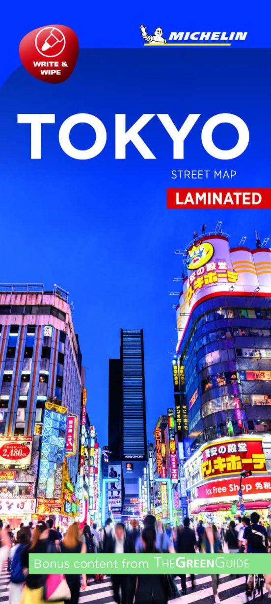 Tokyo. Street Map Laminated