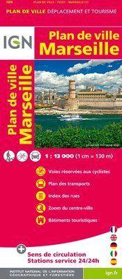 Marseille Plan de Ville 1:13.000