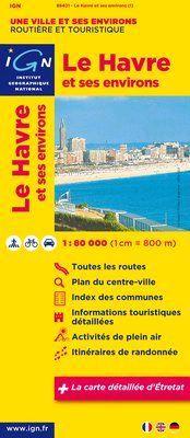 Le Havre et ses environs 1:80.000