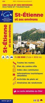 St-Etienne et ses environs. 1:80.000