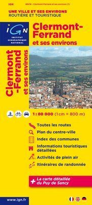 Clermont-Ferrand et ses environs 1:80.000