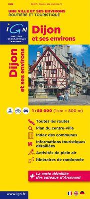 Dijon et ses environs 1:80.000