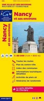 Nancy et ses environs 1:80.000