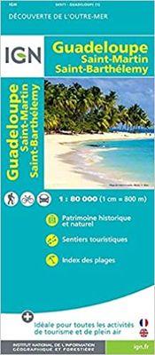 Guadeloupe, Saint-Martin, Saint-Barthélemy 1:100.000