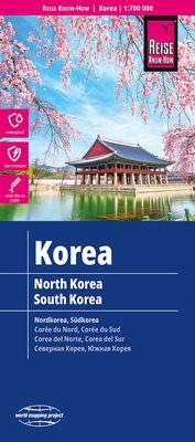 Corea Norte y Sur (1: 700.000)