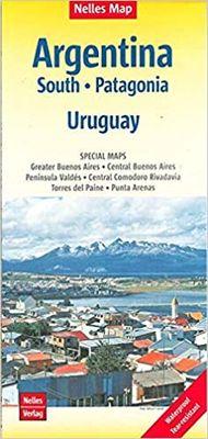 Argentina South. Patagonia. Uruguay (1:2.500.000)
