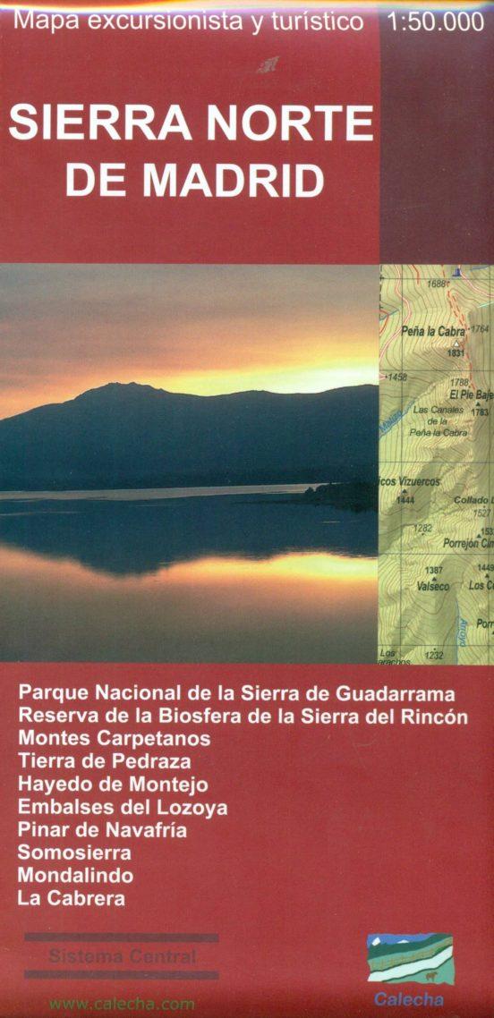 Sierra norte de Madrid 1:50.000. Mapa excursionista y turístico