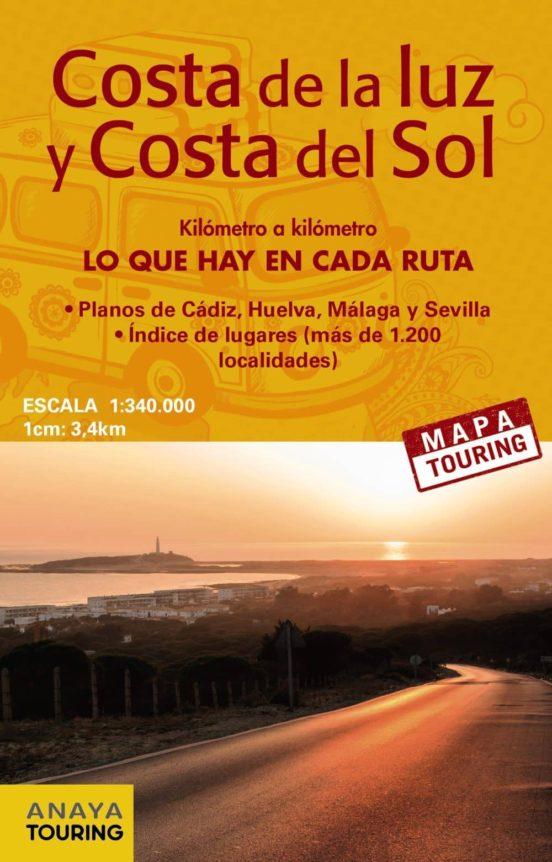 Mapa de carreteras de la Costa de la Luz y Costa del Sol. (1: 340.000)