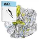 Oslo. Crumpled City Map