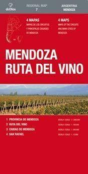 Argentina: Mendoza, ruta del vino (1:1.800.000)